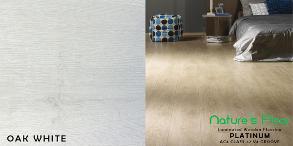 Oak White laminated wood flooring installations and suppliers Pretoria